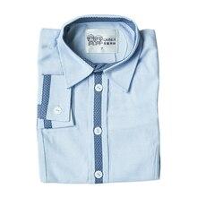 2016 New Arrival Boys Casual Blouse Long Sleeve Boys Shirt Oxford Turn-down Collar Boys Autumn Shirt