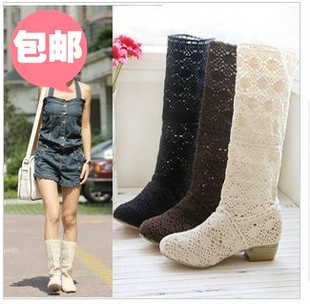 2014 New Casual Boots Knitted Mesh Hollow Spring And Summer Women's Boots Em6094