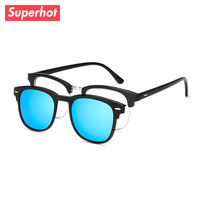 89df20b7170d Superhot Eyewear - Retro Vintage TR90 Spectacle frame light weight  Eyeglasses with Magnet Clip on Polarized