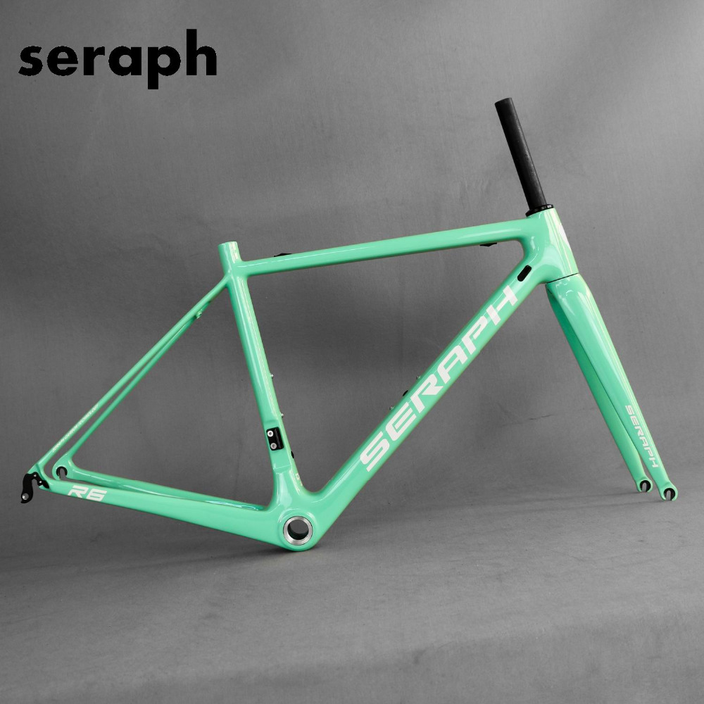700C Super Light Road Bike Frame BSA/BB30 Carbon Bicycle Frame SERAPHBIKE T1000 Bicycle Frame