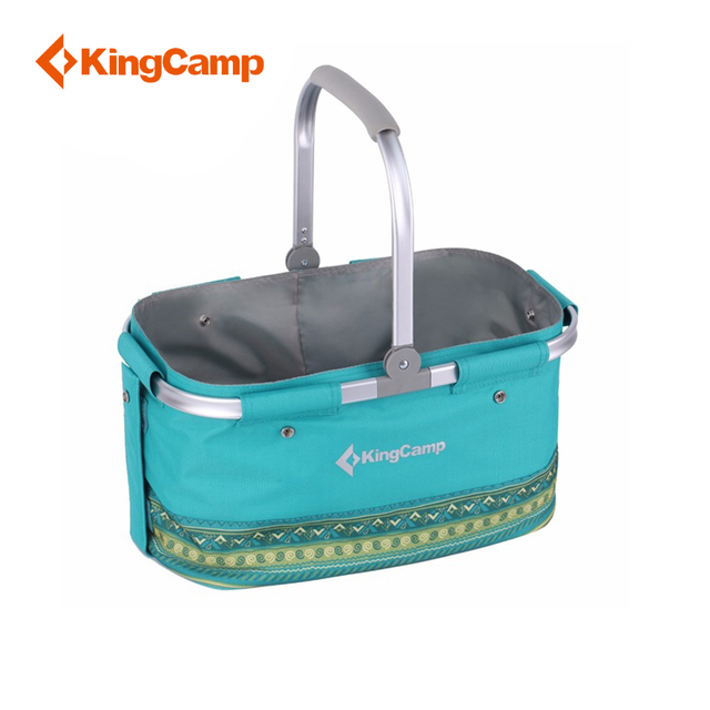 KingCamp Double-layer Removable Picnic Bag Outdoor Folding Picnic Cooler Basket for Camping Outdoor Food Outdoor Equipment