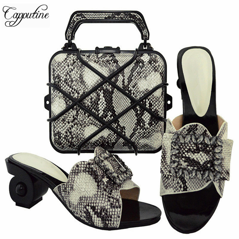 Capputine Nice Italian Matching Shoes And Bag Set African Style Ladies Pumps Shoes And Bag To Match For Wedding Dress GL02 capputine african shoes and bag matching set with crystal hot selling women italian shoes and bag set for wedding dress bl735c