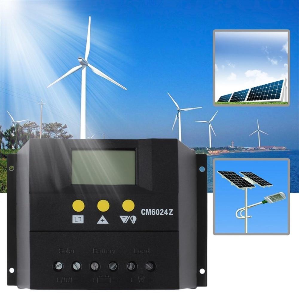 цена на 1 pc Intelligent PWM charge mode PY6024Z 60A 12-24V Solar Regulator Solar Charge Controller LCD Solar Genetator Voltage Control