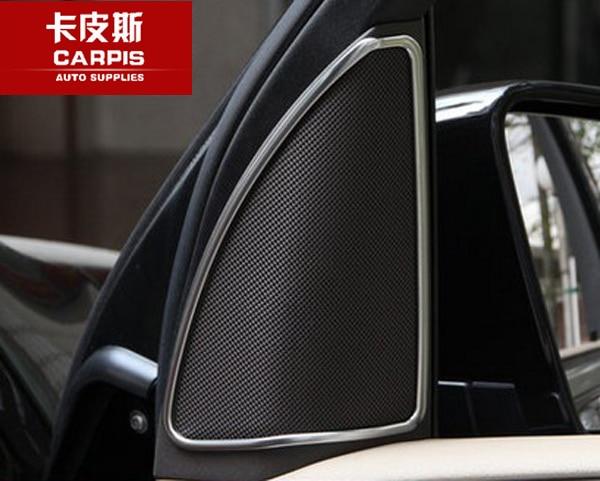 Chrome Car Door Speaker Sound Cover Trim Car Accessories For Mercedes Benz ML350 400 GL450 W164 X164 GLS 2012-2016 Car Styling for mercedes benz ml gl class w164 05 11 front air suspension air spring bag 1643204513 for ml320 ml350 gl450 gl500 front 06 08