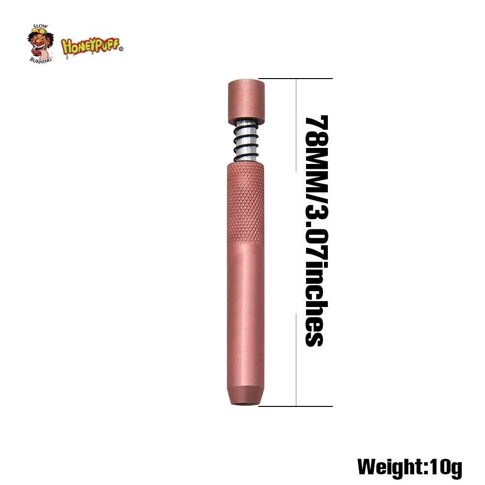 """LARGE HAND TOBACCO SMOKING DUGOUT BOWL METAL BAT USA 3/"""" BRASS ONE HITTER PIPE"""