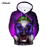HAHA Joker 3D Hoodies Men Women Autumn Winter Hoodies Suicide squad Joker Sweatshirt Couples Fashion Sweatshirts XXS 4XL