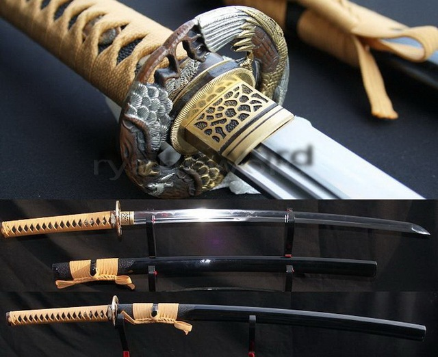 HIGH QUALITY CLAY TEMPERED COMBINED MATERIAL JAPANESE KATANA SWORD
