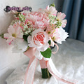 Искусственный букет рамо novia букет флер mariage bruidsboeket невесты цветы букет невесты свадьба
