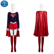 2017 Cosplay Costume Supergirl Roleplay Superman Womens Dress Free Shipping Custom Made Super Girl Skirt