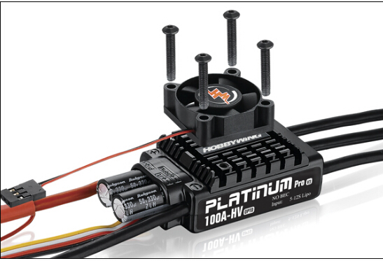 Hobbywing Platinum HV V3 100A 5-12S Lipo No BEC Speed Controller Brushless ESC for RC Drone Helicopters F17832