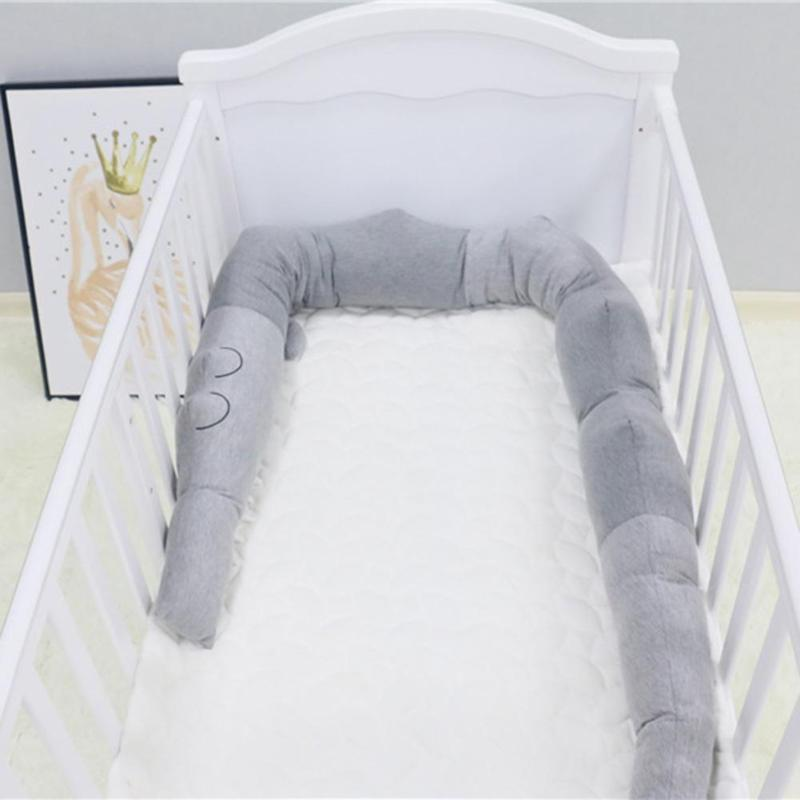 185cm Baby Cute Bed Bumper Newborn Baby Cartoon Crocodile Bedding Protector Toddler Crib Cot Bumper Kids Room Decoration Toys