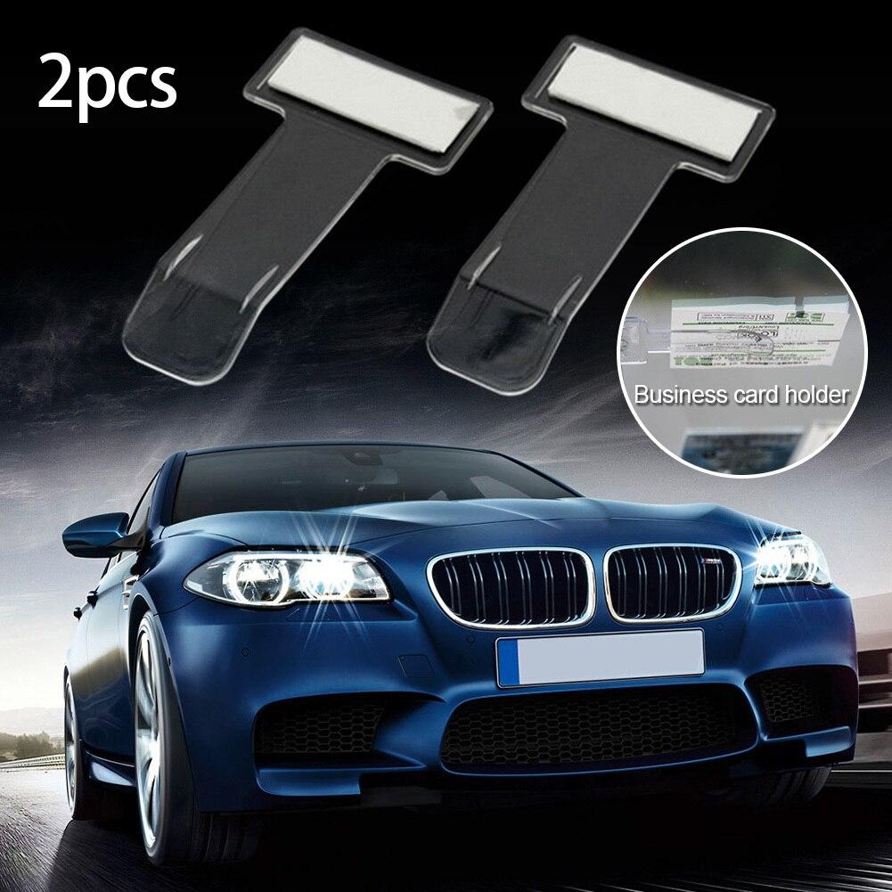 2pcs Car Windshield Mounted Parking Card Holder Transparent Clip For ...
