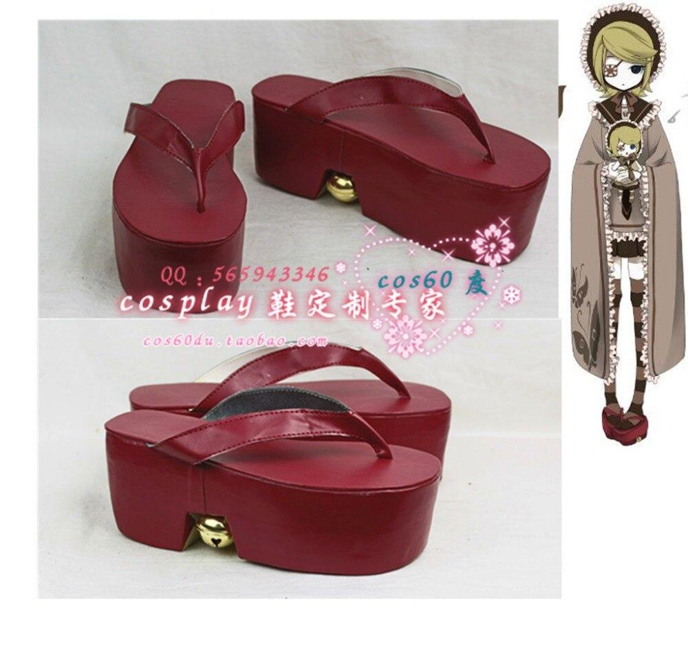 Vocaloid Senbonzakura Kagamine Rin Cosplay Shoes S008