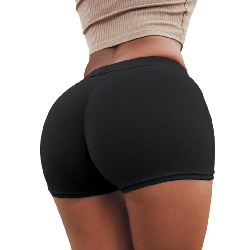 2019 Shorts Women Black Shorts Hip Panty Lift The Hips Women Summer Workout Sportwear