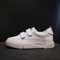 2019 spring new fashion simple solid color flat shoes women trend leather comfortable breathable wild casual shoes.