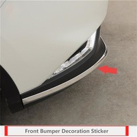 ABAIWAI Front Bumper Stickers For Nissan Qashqai Car Head Corner Modification Exterior Trim Automotive Supplies ABS