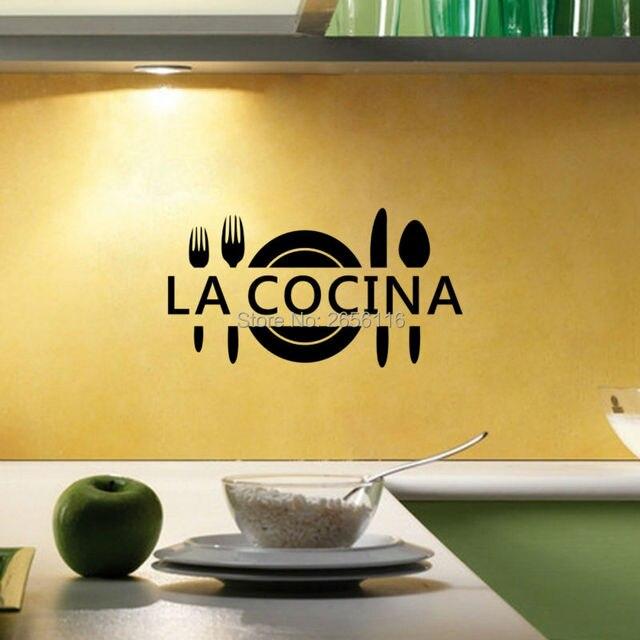 Spanisch Zitate Wandaufkleber La Cocina Vinyl Aufkleber Und Wandbilder Für  Küche Esszimmer