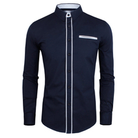 2015 Men Shirts Spring New Arrivals Hit Color Simple And Stylish Male S Casual Fashion Slim