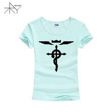 Fullmetal Alchemist Anime Cartoon Women T Shirt T-shirt Fashion 2017 New Short Sleeve Cotton Tshirt Tee Girls