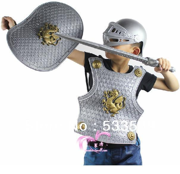 a7194cc3689895 Hot Sale Cool Children's Costumes Armor Male Kids Dragon Knight Sword  Warrior Shield Child Helmet Clothing With Four Pieces on Aliexpress.com |  Alibaba ...