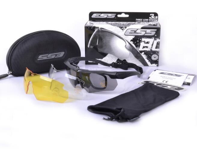 Best quality TR-90 Brand ESS Crossbow 3 Lens Cross Bow Army Goggles Sport Men Sunglasses Eyewear Outdoor Gafas Sports Glasses