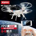 Syma x8w y x8c drones fpv rc helicóptero quadcopter 6-axis drone con cámara de 2mp wifi y 4 unids hoja como regalo