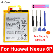 QrxPower Replacement Battery 3450mAh HB416683ECW For Huawei Nexus 6P H1511 H1512 Original Free Tools