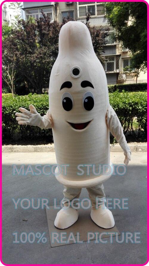 Mascotte préservatif bande dessinée costume de mascotte de fantaisie personnalisée costume anime cosplay kits mascotte thème de bande dessinée fantaisie robe