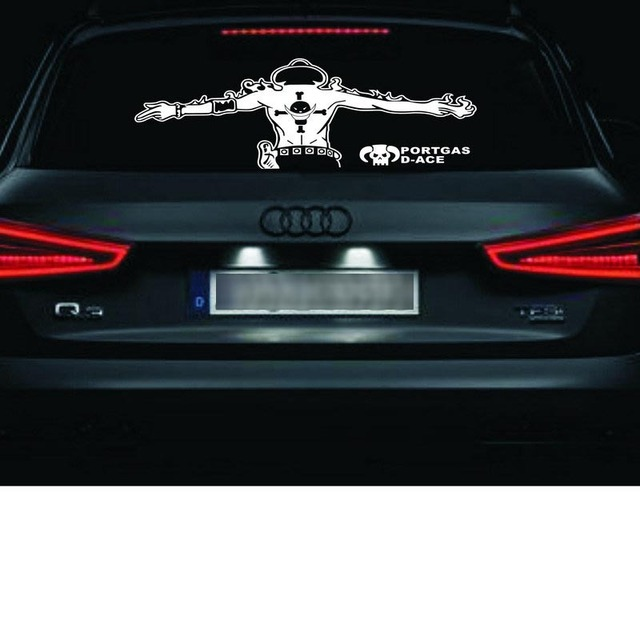 After the pirates car stickers car glass sticker cartoon hat pulled kao fire fist ace one