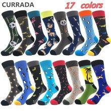 Brand Quality Mens Happy Socks Combed Cotton Panda penguin Animal Cartoon 17 colors Funny Socks Casual
