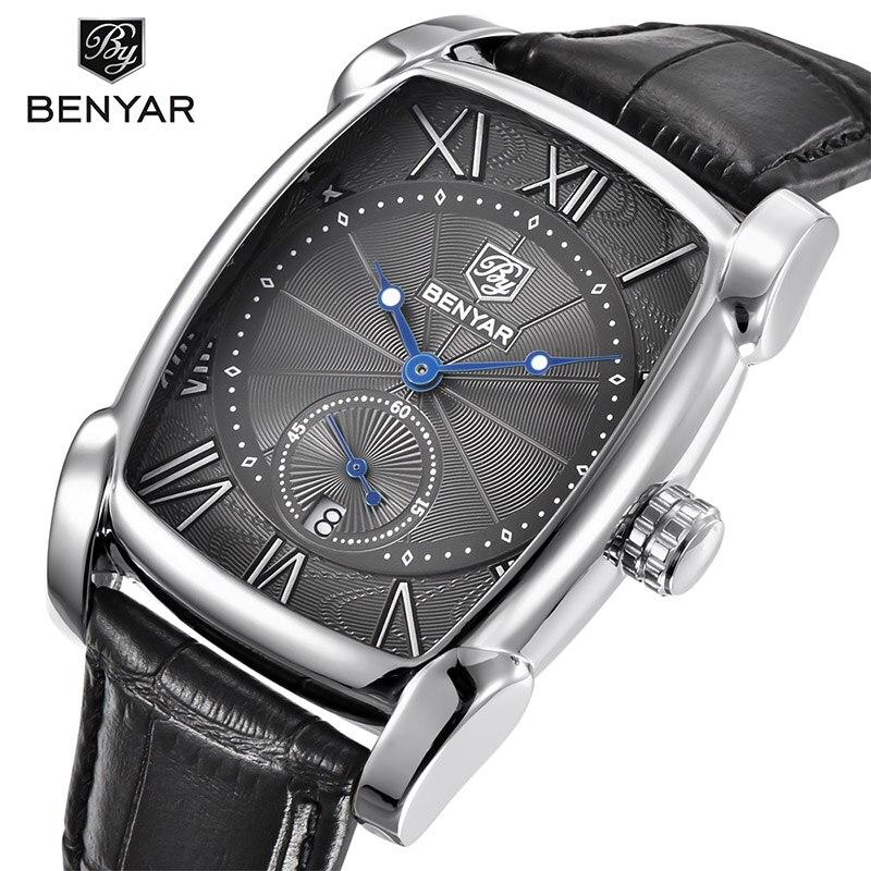 BENYAR Brand Luxury Men's Watch Date 30m Waterproof Clock Male Casual Quartz Watches Men Wrist Sport Watch Erkek Kol Saati 2019