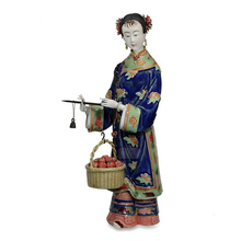 Traditional Chinese Female Statues Collectibles Hot Antique Glazed Porcelain Figurine Christmas Gifts Ceramic laddy Figure Art
