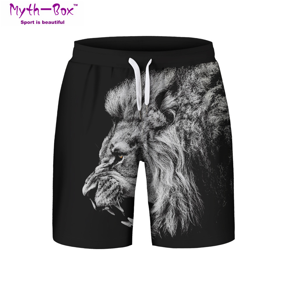 ccc559b48c Summer Man's Beach Shorts S-3XL Surfing Sports Pants Lion 3D Printed Man  Loose Swimming