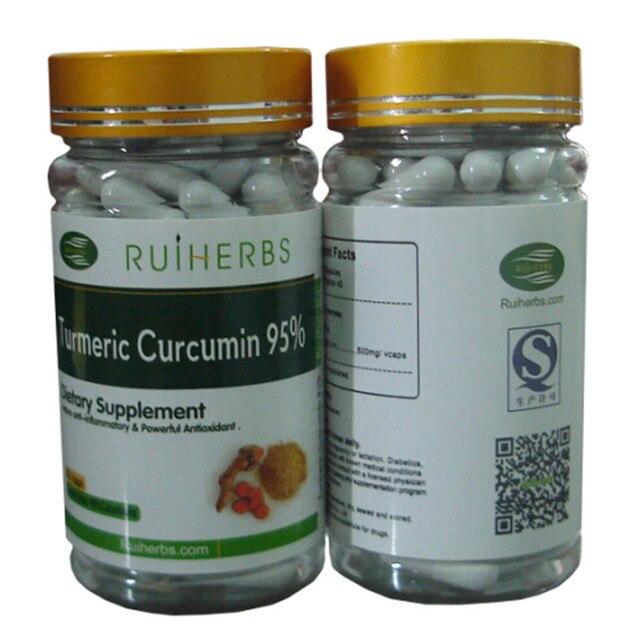 1 Бутылка Куркумин 95% Экстракт 500 мг х 90 шт. Капсулы бесплатная доставка