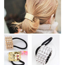 US $0.63 47% OFF|M MISM Elastic Hair Bands Scrunchy Hair Accessories Ornaments Rubber Band Bezel Hair Holders for Women Girls-in Women's Hair Accessories from Apparel Accessories on Aliexpress.com | Alibaba Group