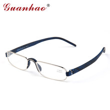 Guanhao Transparent Optical Reading Glasses Clear Man Women Presbyopia Hyperopia Reading Glasses Frame Alloy Ultralight HD View(China)