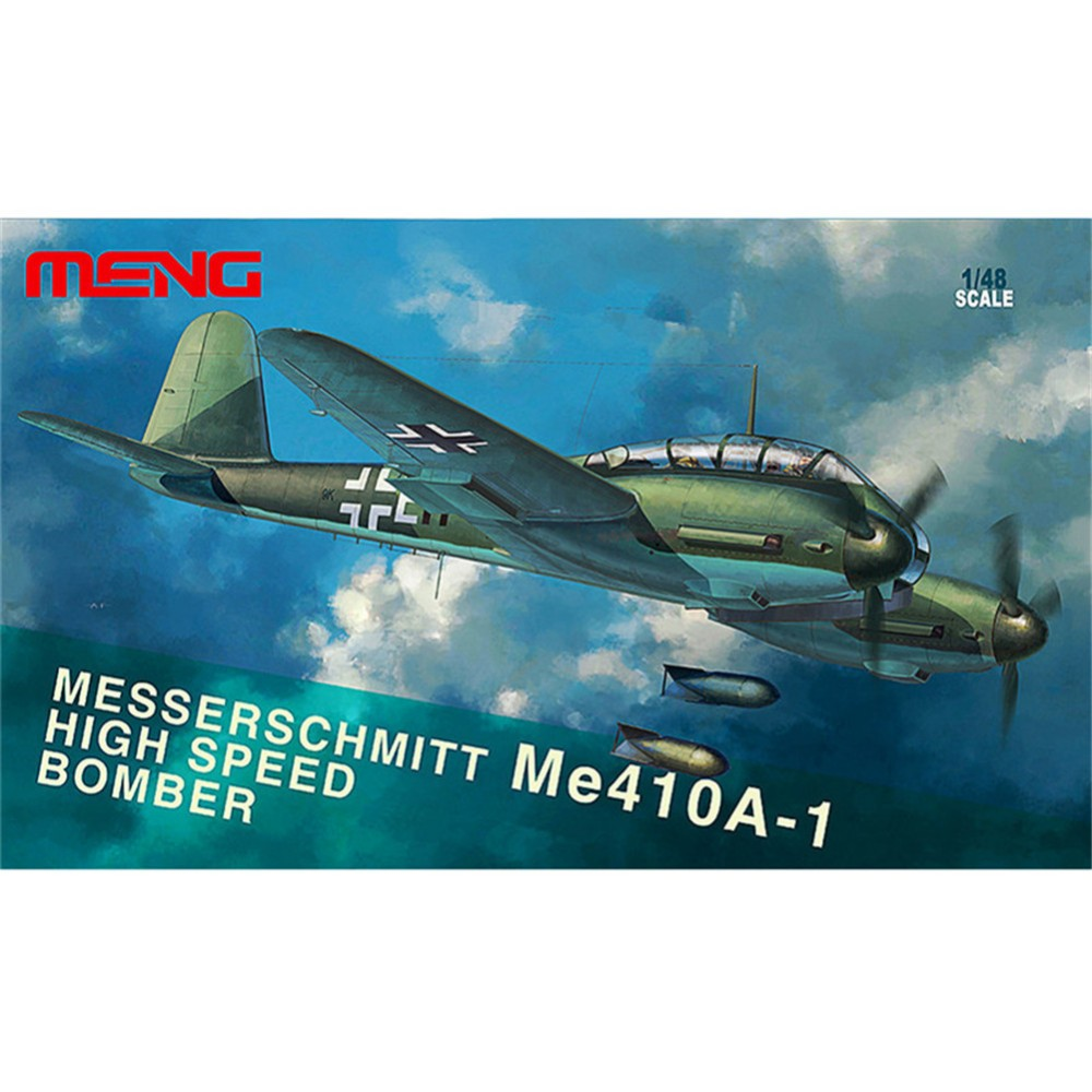 ФОТО OHS Meng LS003 1/48 Messerschmitt Me410A-1 High Speed Bomber WWII Assembly Airforce Model Building Kits