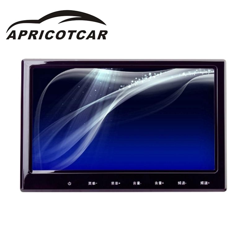 APRICOTCAR 9-дюймовый 800*480 HD Сенсорный экран автомобиля монитор Заголовника автомобиля заднего сиденья Дисплей DVD-плеер тонкий светодиодный цифровой мода экран