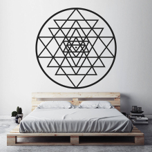YOYOYU Sri Yantra Pattern Vinyl wall sticker Sacred Geometry Removeable Decal Salon Livingroom Bedroom Decoration ZX224 цена