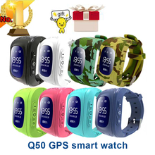 Anti Lost Q50 OLED Child GPS Tracker SOS Smart Monitoring Positioning Phone Kids GPS Watch Compatible IOS & Android VS Xiaomi