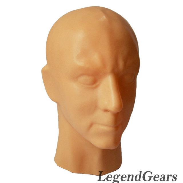 El Envío Gratuito! Máscara De Látex Fetiche de Látex Puro humano NO Capucha Máscara Sexy OJOS ABIERTOS para Jugar Tres Colores disponibles