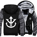 Wholesale Price Anime Dragon Ball Z Vegeta Saiyan Royal Crest Winter Women Men Hoodie Zipper Jacket Casual Sweatshirts Sportwear