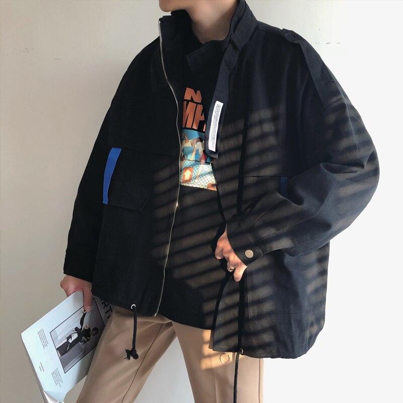 vent Manteaux Vêtements De Bomber 2018 Fret Hommes Vestes Coupe xl Black Streetwear Couleur M Lâche Noir Marque Mode Oversize violet violet Travail 7Tq5twnq