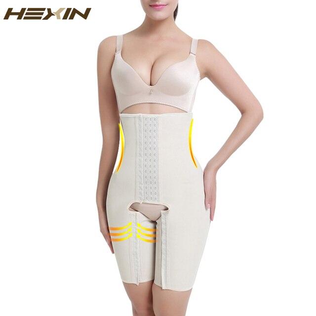 01e29717dc6a0 HEXIN 4 Steel Bones Latex Waist Shaper Plus Size Shapewear Women Slimming Butt  Lifter Shaper with Tummy Control Full Body Shaper