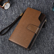 2019 Luxury Brand Men Wallets Long Purse Wallet Clutch Leather Bag Zipper Card Holder Men Business Coin Wallet