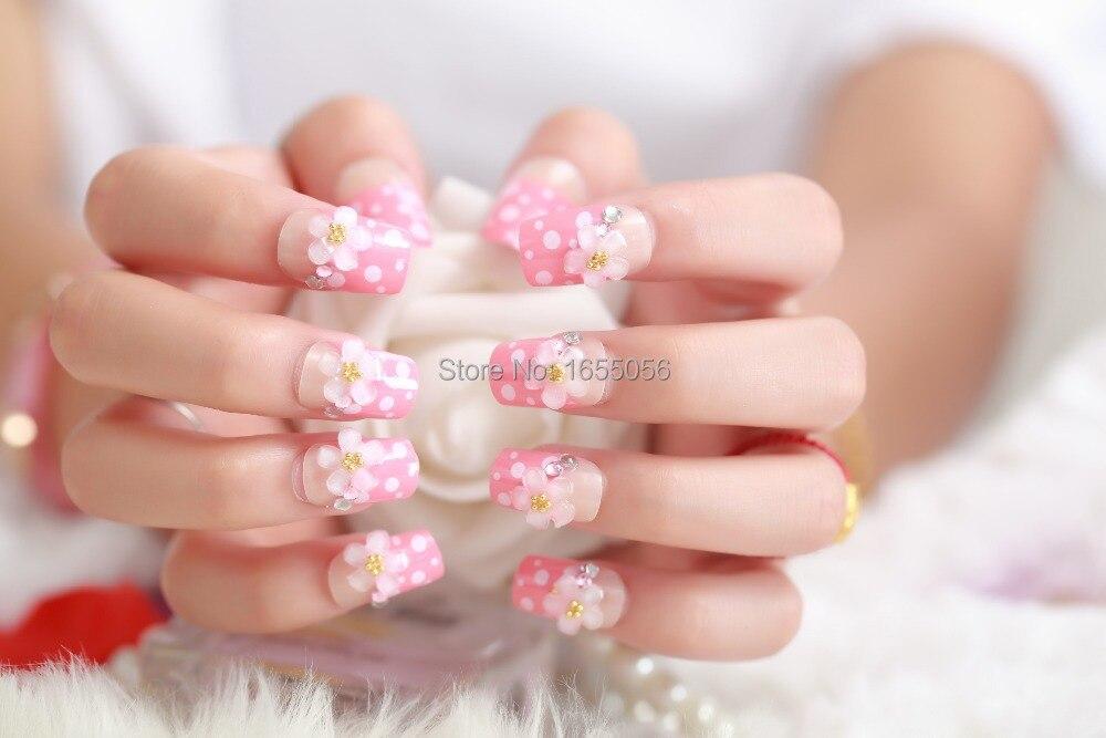 A woman\'s nails, 2015 Fake nails,Diamonds ,stick tablets , bag mail ...