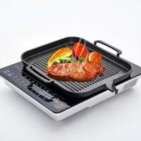 Korean Induction Cooker Baking Tray Square Barbecue Tray Teppanyaki Smokeless Non stick Barbecue Pot Barbecue Supplies