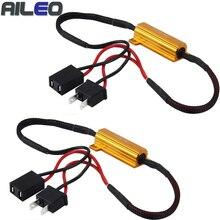 50 Вт H1 H3 H7 H11 9006 hb3 hb4 h9 h8 h10 автомобиля нагрузочный резистор ошибка компенсатор светодиодный декодер Canbus проводки декодер компенсатора светильник