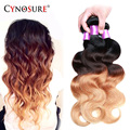 Brazilian Hair Ombre Body Wave 3Bundles Wet and Wavy Human Hair 7A Rosa Hair Products 100% Virgin Ombre Brazilian Hair Body Wave