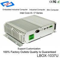 Низкая Мощность Mini ITX чехол для ноутбука Intel Core i7 3517U двухъядерный Dual LAN баребоны безвентиляторный промышленный компьютер с параллельным Пор